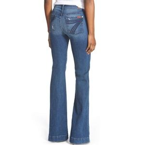 7 For All Mankind Dojo Jeans Flare Blue 7s